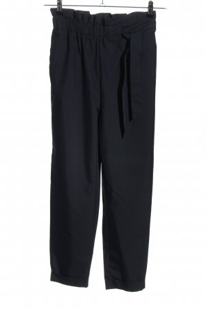 Zara Basic High-Waist Hose schwarz Business-Look