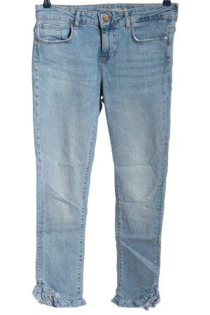 Zara Basic Jeans taille haute bleu style décontracté