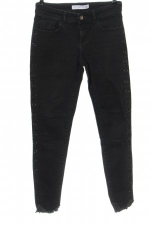Zara Basic High Waist Jeans schwarz Casual-Look