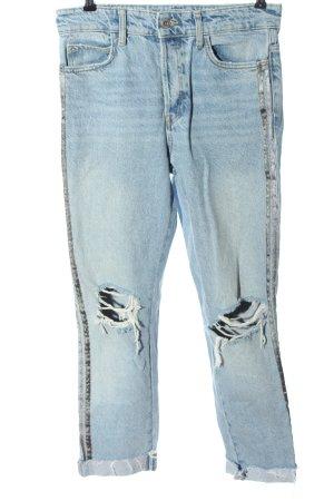 Zara Basic High Waist Jeans blau Casual-Look