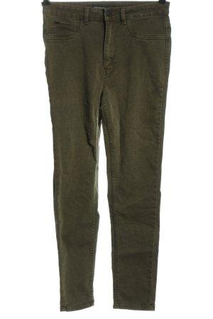 Zara Basic High Waist Jeans khaki Casual-Look