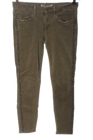 Zara Basic Slim Jeans khaki Casual-Look