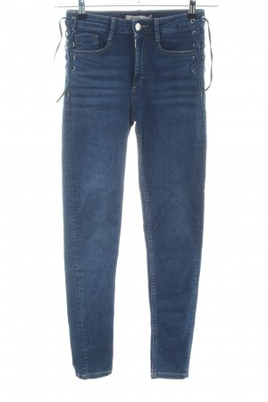 Zara Basic Hoge taille jeans blauw casual uitstraling