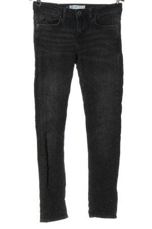 Zara Basic Vaquero de talle alto negro look casual