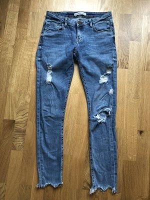 ZARA Basic High-Waist Jeans Größe 36