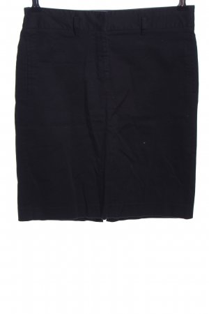 Zara Basic High Waist Skirt black business style
