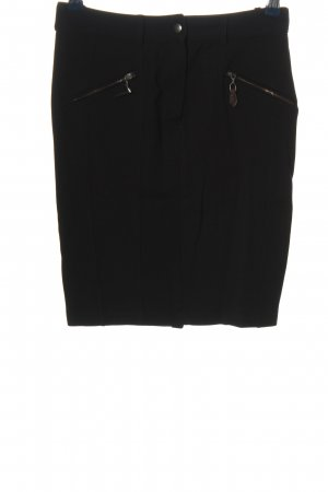 Zara Basic High Waist Rock schwarz Business-Look