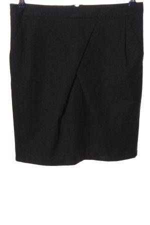 Zara Basic Spódnica z wysokim stanem czarny W stylu casual