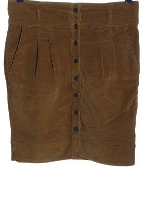 Zara Basic High Waist Rock braun Casual-Look