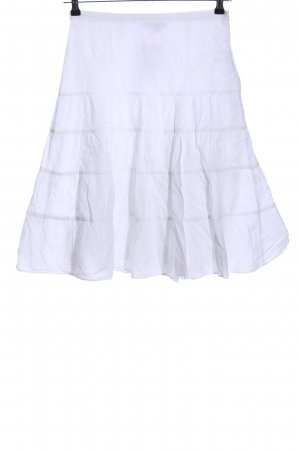 Zara Basic High Waist Skirt white casual look