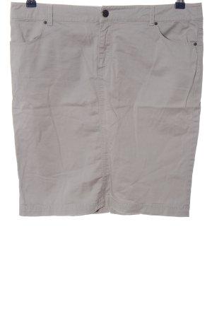 Zara Basic Spódnica z wysokim stanem jasnoszary W stylu casual