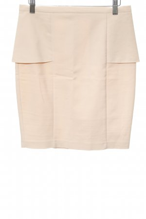 Zara Basic High Waist Rock creme Business-Look