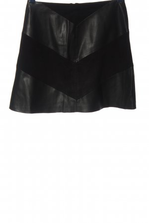 Zara Basic Minirock schwarz Streifenmuster Casual-Look