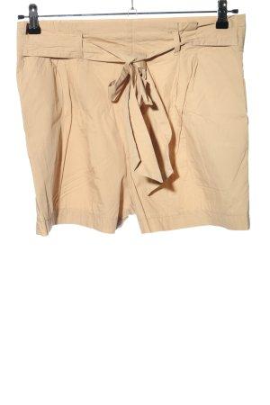 Zara Basic High-Waist-Shorts nude Casual-Look