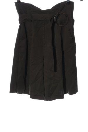 Zara Basic High-Waist-Shorts braun Casual-Look