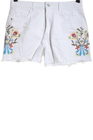 Zara Basic Pantalón corto de talle alto multicolor look casual
