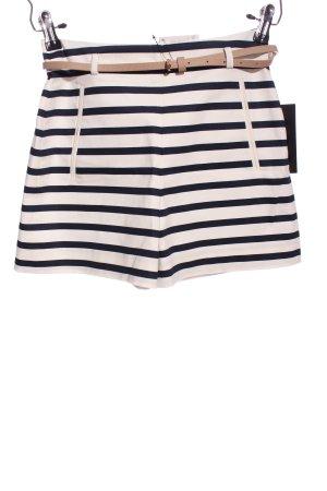 Zara Basic Pantaloncino a vita alta motivo a righe stile casual