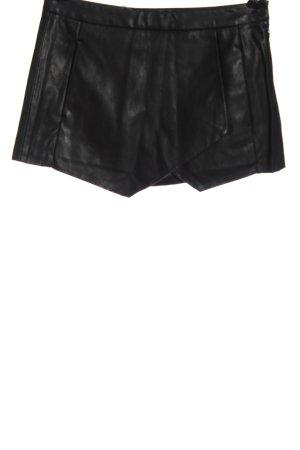 Zara Basic High-Waist-Shorts schwarz Casual-Look