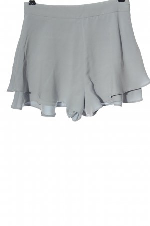 Zara Basic High-Waist-Shorts hellgrau Elegant