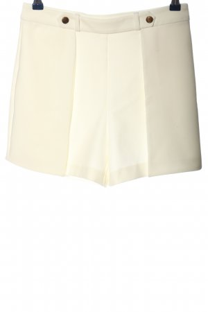 Zara Basic High-Waist-Shorts white business style