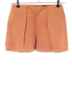 Zara Basic High-Waist-Shorts hellorange Casual-Look
