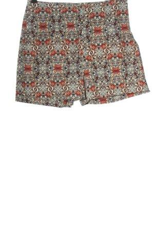 Zara Basic High-Waist-Shorts Allover-Druck Casual-Look