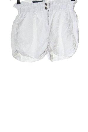 Zara Basic High-Waist-Shorts weiß Casual-Look