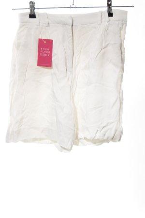 Zara Basic High-Waist-Shorts wollweiß Casual-Look