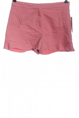 Zara Basic Szorty z wysokim stanem różowy W stylu casual