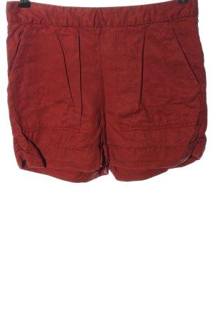Zara Basic High-Waist-Shorts rot Casual-Look