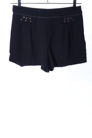 Zara Basic High-Waist-Shorts schwarz Elegant