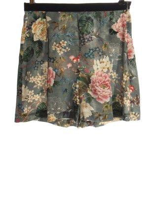 Zara Basic High-Waist-Shorts Blumenmuster Casual-Look
