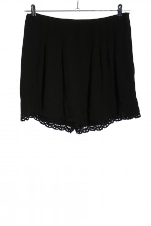 Zara Basic Pantaloncino a vita alta nero stile casual