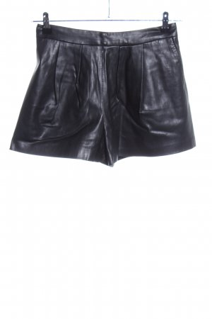 Zara Basic High-Waist-Shorts schwarz Casual-Look