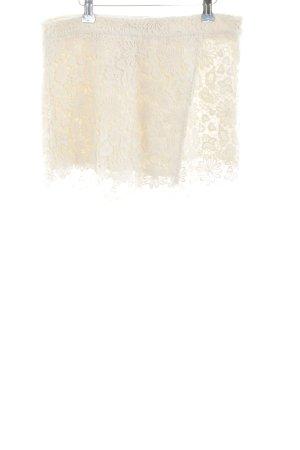 Zara Basic High-Waist-Shorts wollweiß Street-Fashion-Look