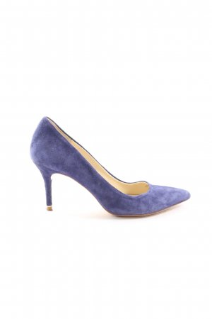 Zara Basic High-Front Pumps blue casual look