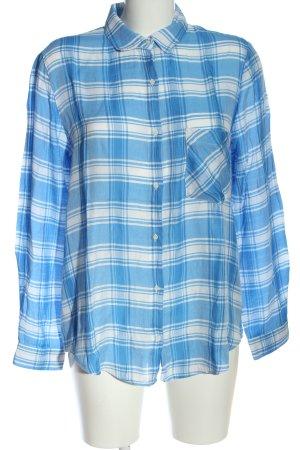 Zara Basic Chemise de bûcheron bleu-blanc motif à carreaux style décontracté