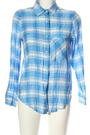 Zara Basic Lumberjack Shirt blue-white check pattern casual look
