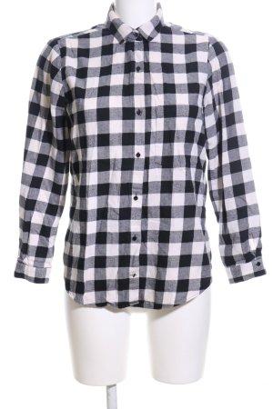 Zara Basic Camicia da boscaiolo nero-bianco motivo a quadri stile professionale