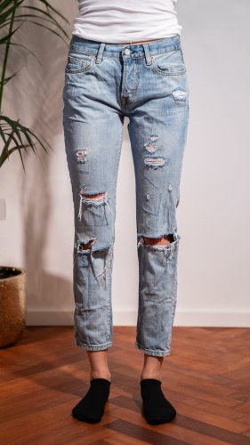 Zara Basic Boyfriend Jeans azure