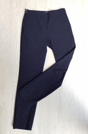 Zara Basic Pantalon strech bleu foncé