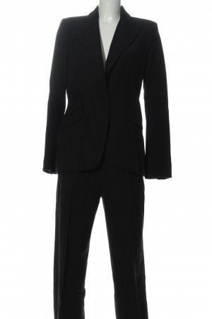 Zara Basic Hosenanzug schwarz Streifenmuster Business-Look