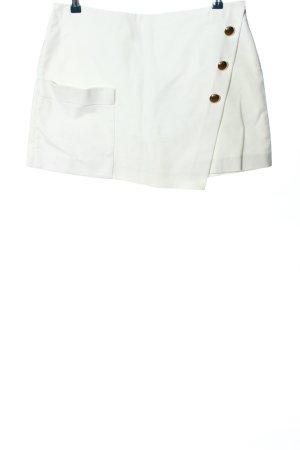 Zara Basic Falda pantalón blanco look casual