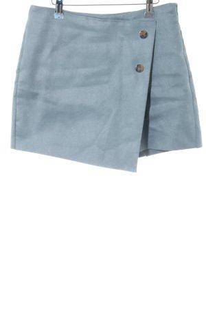 Zara Basic Falda pantalón azul look casual
