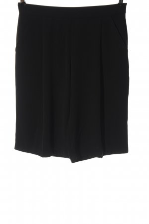 Zara Basic Pantalon 3/4 noir style décontracté