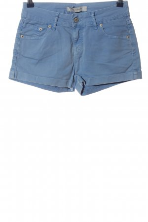 Zara Basic Hot Pants blau Casual-Look