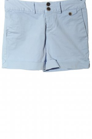 Zara Basic Hot pants blauw casual uitstraling
