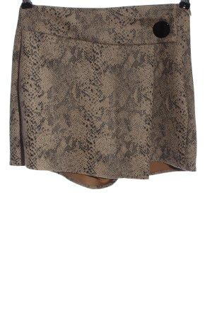Zara Basic Hot Pants braun-schwarz Allover-Druck Casual-Look
