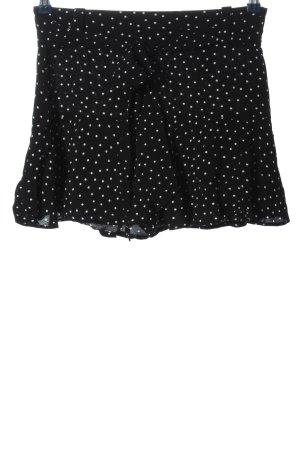 Zara Basic Hot Pants schwarz-weiß Punktemuster Casual-Look