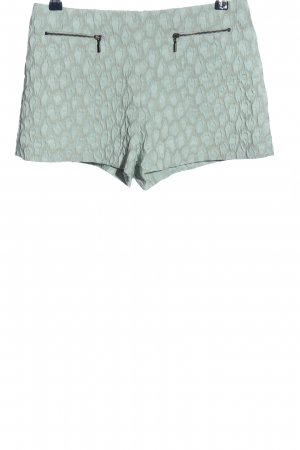 Zara Basic Hot Pants türkis abstraktes Muster Casual-Look